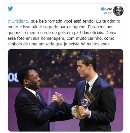 أول تعليق لبيليه على رونالدو